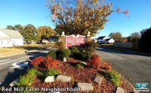 Red Mill Neighborhood Sign