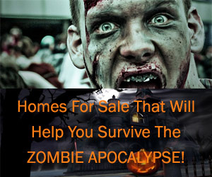 Homes For Sale That Will Help You Survive A Zombie Apocalypse Title Graphic