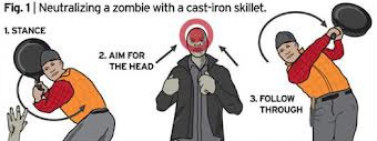 Neutralizing A Zombie With A Cast-Iron Skillet How To