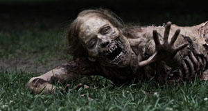 Zombie Crawling in Grass