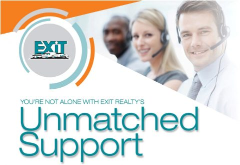 Operators, Exit Logo, You are not alone with EXIT Realty's Unmatched Support