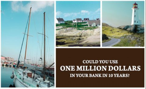 Boat, shore with houses, lighthouse, What Could You Do With One Million?